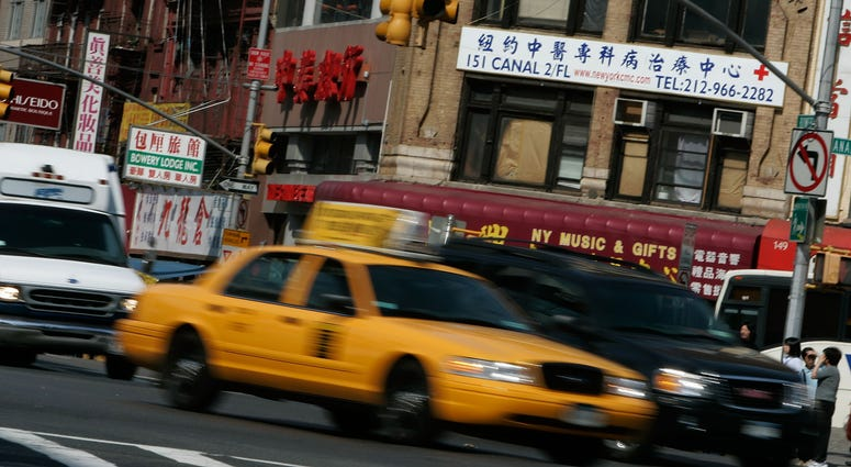 A cab driver in Chinatown