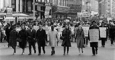 Civil rights march Harlem