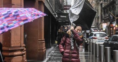 Rain Storm New York Winter