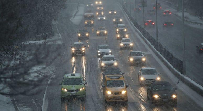 Winter storm New York