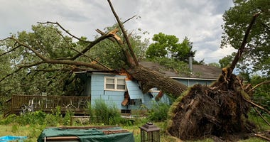 Storm damage in Howell, New Jersey