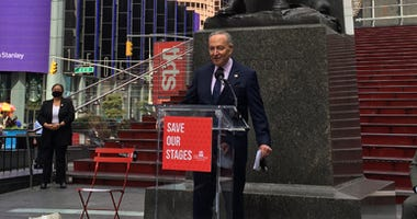 Sen. Schumer on Broadway