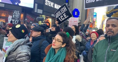 Anti-ICE protest in Times Square