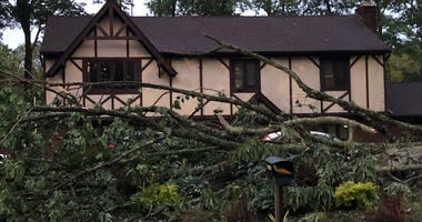 Storm damage in New Jersey