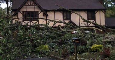 Storm Damage In Stanhope, New Jersey