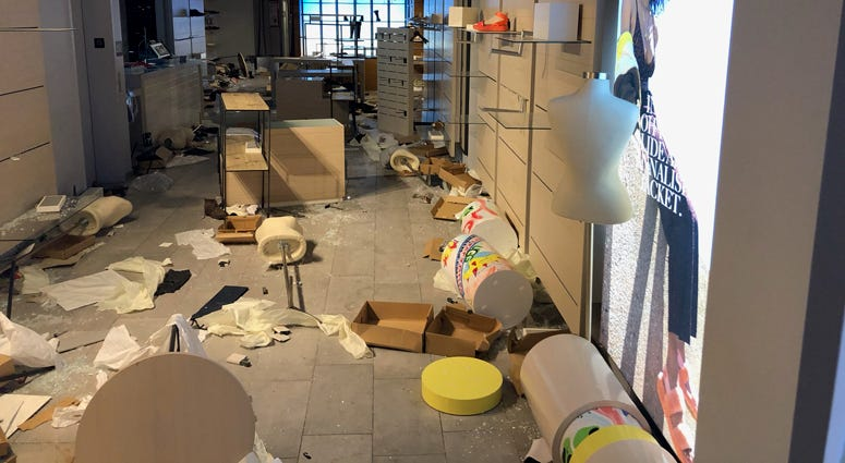 Looted stores in Manhattan