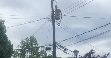 Power lines where Huntington power surge occurred