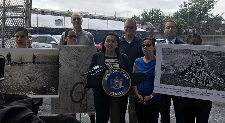 Sen. Marisol Alcantara Calls For Memorial To Inwood Slave Burial Ground