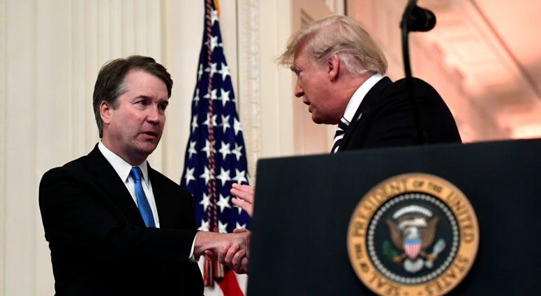 Justice Brett Kavanaugh, President Donald Trump