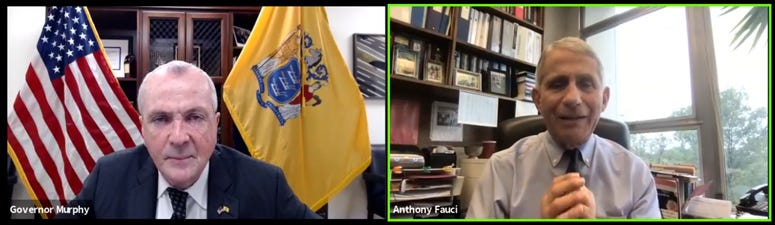 Phil Murphy and Anthony Fauci