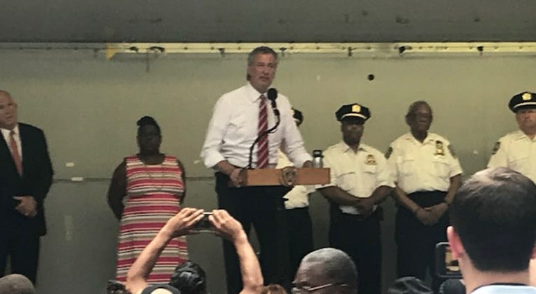 Mayor Bill de Blasio At National Night Out