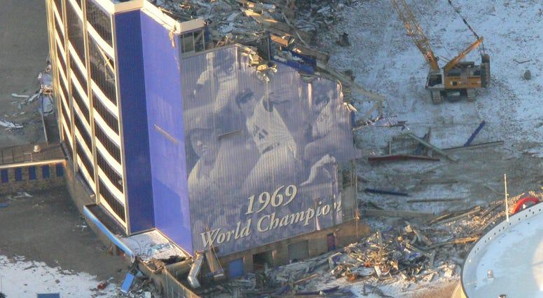 Demolition of Shea Stadium