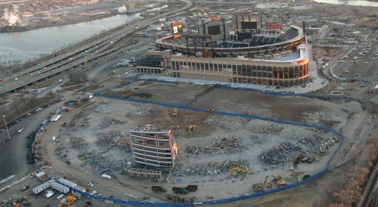 Citi Field and Shea Stadium