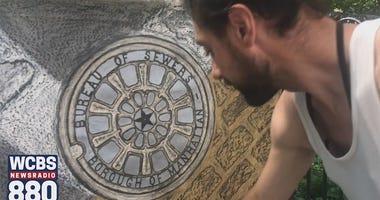 Paul Carluccio's Manhole Art