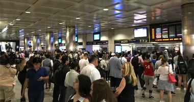 Penn Station Crowd