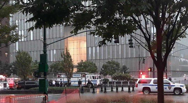 Suspicious package investigation World Trade Center