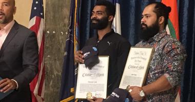 Ruben Diaz Jr. honors Antonyo Love and Jairo Torres