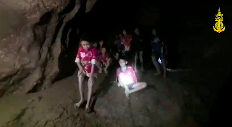 Thai Soccer Team In Cave