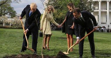 President Donald Trump, French President Emmanuel Macron