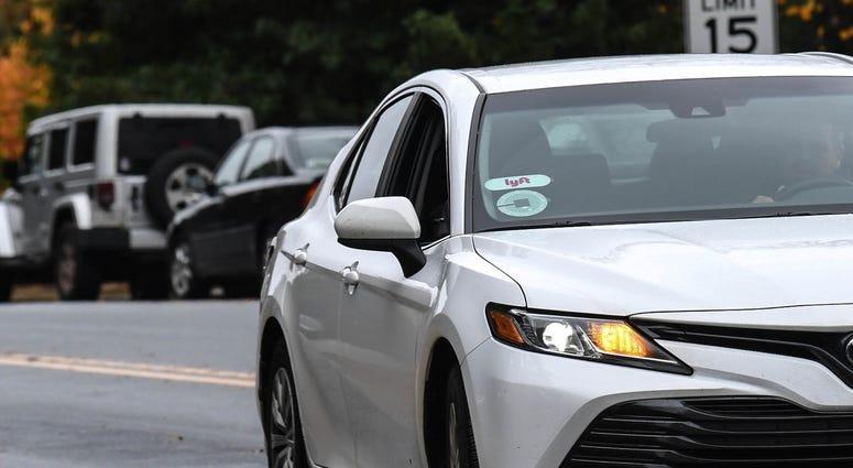 Lyft and Uber Car
