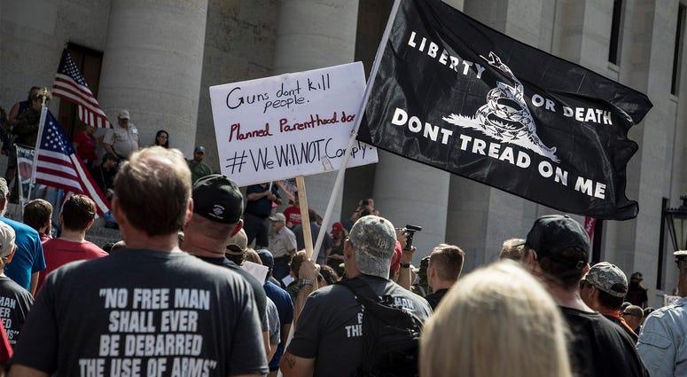 A gun rights protest
