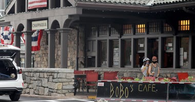 BoBo's Cafe at the Chappaqua Metro-North train station was open for business July 1, 2020.