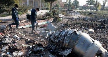 Ukraine plane crash wreckage