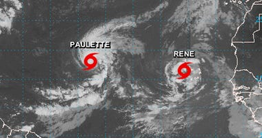 Tropical storms Paulette And Rene