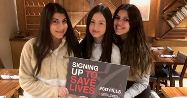 Ava Tsapatsaris, Felicia Mazzone and Georgette Cosentino