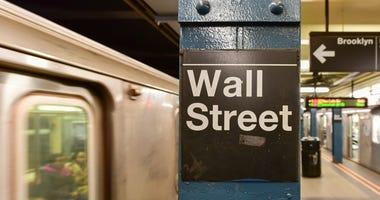 Subway Train at Wall Street Station