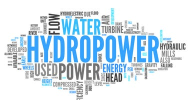 Hydropower word cloud