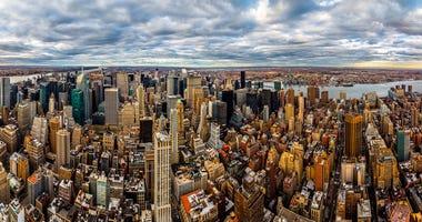 New York midtown skyscrapers