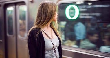 Subway woman