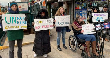 Subway protest Bay Ridge