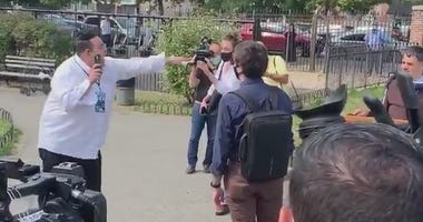 Heckler interrupts city officials