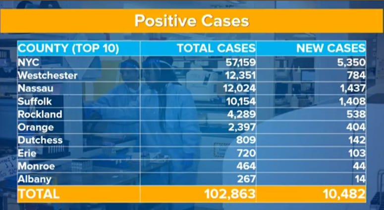 New York Coronavirus Cases April 3
