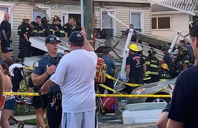 Jersey Shore deck collapse