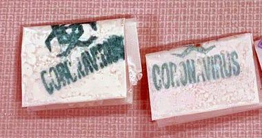 Coronavirus-stamped heroin
