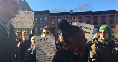 Protesters Confront Bill de Blasio