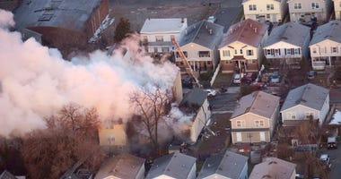 Three-Alarm Fire In Newark