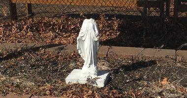Damaged Virgin Mary Statue