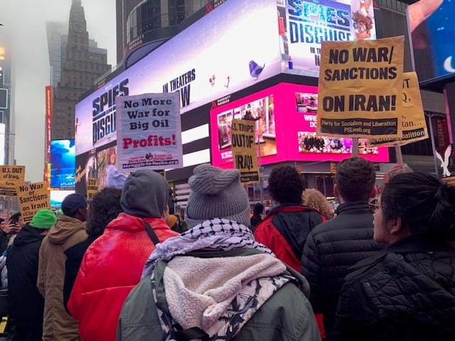 Anti-war protest Times Square