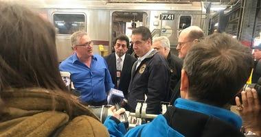 Cuomo Tours Subway Facility