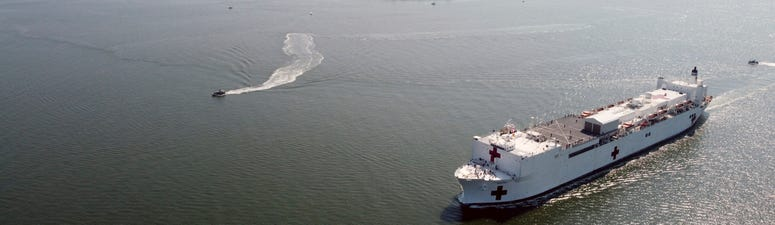 Navy hospital ship set to arrive in NYC harbor