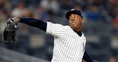 Yankees closer Chapman has COVID-19; Judge scratched