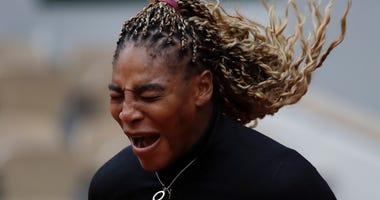 'Runaway train': Serena wins French Open opener; Nadal, too