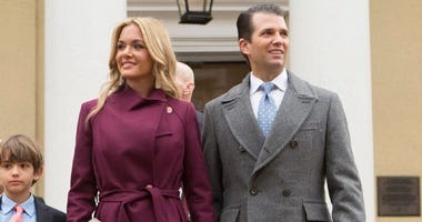 Donald Trump Jr, with his wife Vanessa