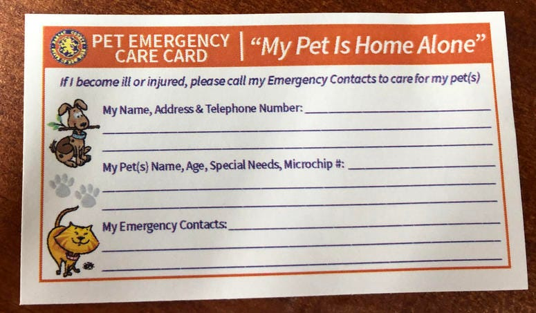 Pet ID cards