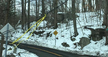 Downed Power Line In Stamford