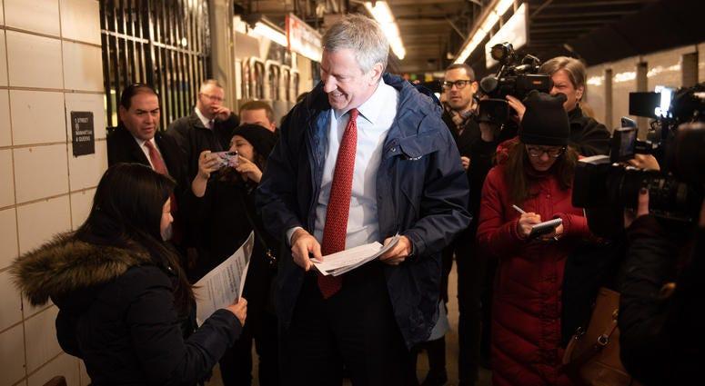 Mayor Bill de Blasio Subway